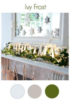 Gorgeous Christmas mantel setup.