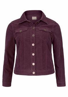 Cord-Jacke in trendigem Burgunder-Ton von Zizzi @aboutyou