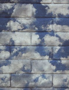 Clouds on the brick wall - pretty!