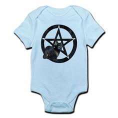 Wicca Pentacle - Goddess Bast Cat Infant Bodysuit