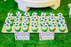 Clarkie's Soccer Themed Party – Sweet treats Football Themes, Party Themes, Sweet Treats, Soccer, Birthday, Desserts, Food, Tailgate Desserts, Sweets