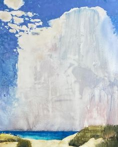 """Randall David Tipton on Instagram: """"Dune Sea Sky watercolor on Yupo 26x20 inches, 66x51 cm @randalldavidtipton #randalldavidtipton #contemporarywatercolorpainting…"""" Watercolor Landscape, Abstract Landscape, Watercolor Paintings, Dune, David, Sky, Studio, Paper, Outdoor"""