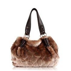 Modern Luxuxry Real Leather Fur Design Lady's Handle/Shoulder Bag