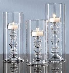 Tall Glass Tealight Candle Holders in the Shape of Candlesticks - Home Interior Design Themes Dollar Tree Candle Holders, Dollar Tree Candles, Glass Tealight Candle Holders, Dollar Tree Decor, Dollar Tree Crafts, Diy Candles, Tea Light Candles, Tea Lights, Hurricane Candle