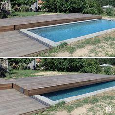 Optez pour une terrasse amovible dans votre jardin : une bonne manière de protéger sa piscine tout en agrandissant la surface de votre terrasse ! En vidéo : https://www.youtube.com/watch?v=wFtpsQCLMLg #terrassebois