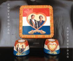 Decoupage with fotos Koningsdag - ДР короля Голландии. price 35.00 euros