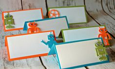 Robot Themed Party Name Tags (set of 6)