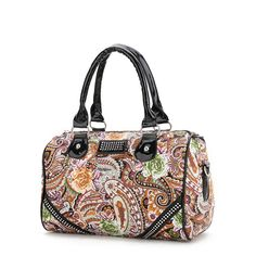 bc82b0a94871 2015 Fashion Floral PU Women Leather Handbags Bowling bolsa feminina  Shoulder Bags Vintage Desigual Bag Ladeis