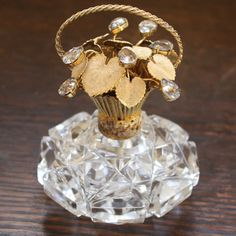 Gorgeous Vintage Crystal Perfume Bottle by TheFrenchLaundry, $325.00