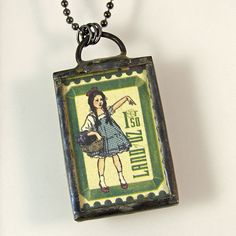 Wizard of Oz Pendant Necklace by XOHandworks $25