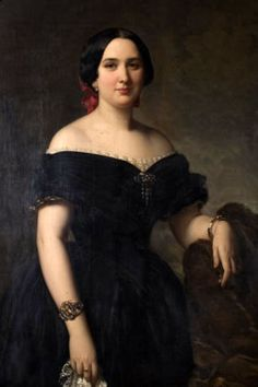 Painter: Federico de Madrazo  Title: Amelia de Vilanova y de Nadal Madrazo  Date: 1853