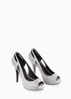 Peep toe stilettos