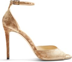 JIMMY CHOO Annie 100mm crushed-velvet sandals | #Chic Only #Glamour Always