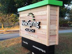 NewSpring Cedar Sign