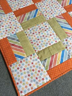 Simple Modern Baby Quilts Pdf Sewing Pattern Baby Boy Quilt Patterns For Beginners Simple Childs Quilt Pattern Full Size Of Simple Patchwork Baby Quilt Tutorial Flannel Quilts Free Quilting Pattern - co-nnect. Simple Modern Baby Quilt Pattern From Oh Fran Jellyroll Quilts, Lap Quilts, Strip Quilts, Patchwork Quilting, Flannel Quilts, Patchwork Ideas, Quilt Blocks, Scrappy Quilts, Quilting Ideas
