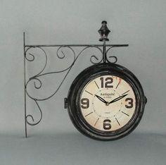 Antiquité de Paris Train Station Clock With Ornate Mount