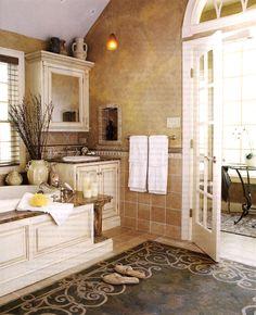 Light Tuscan Bathroom