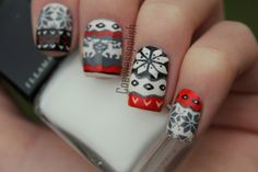Fair Isle Sweater Nails from coewless polish
