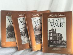 Shelby Foote The Civil War Volumes 9 11 12 14 40th Ann Time Life New