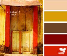 palheta de cores complementares