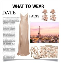 """What to wear - A date in Paris (1)"" by katerina-kapnia on Polyvore featuring Michelle Mason, Phase Eight, Olgana, Oscar de la Renta, chic, Pink, paris, romantic and date"