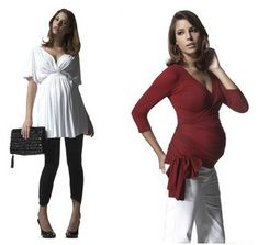 2 Really cute maternity outfits for Spring :) From TheChicFashionista.com