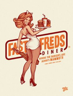 50 Mind-Blowing Artworks Where PinUp Art Meets Typography | Inspiration