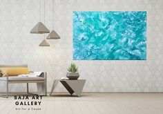 Large Abstract Teal Painting Original Acrylic Painting on Blue Living Room Decor, Living Room Art, Game Room Decor, Wall Decor, Acrylic Painting Canvas, Watercolor Paintings, Marble Art, Interior Photo, Unique Colors