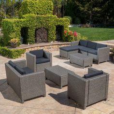 Outdoor Best Selling Home Decor Furniture Payton 9 Piece Patio Conversation Set - 298189