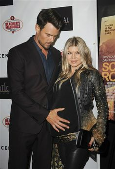 """Josh Duhamel and Fergie attend the premiere of his new movie """"Scenic Route"""" in Hollywood on Aug. 20, 2013."""