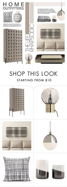 """Untitled #1029"" by valentina1 ❤ liked on Polyvore featuring interior, interiors, interior design, home, home decor, interior decorating, Poltrona Frau, Bloomingville, Crate and Barrel and Visual Comfort"