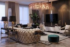 Gorgeous Modern living room decor with restoration Hardware inspired soho sofa living rooms living room ideas living room ideas room ideas turquoise living rooms Living Room Modern, Home Living Room, Interior Design Living Room, Living Room Designs, Living Room Decor, Luxury Living Rooms, Dining Room, Interior Minimalista, Luxury Home Decor