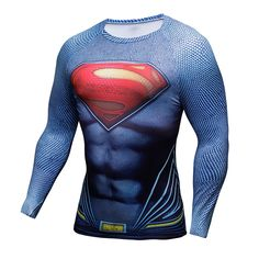 8.15$  Buy here - Compression Shirt Batman VS Superman 3D Printed T-shirts Men Raglan Long Sleeve Cosplay Costume Fit Clothing Fitness Tops Male   #magazineonline