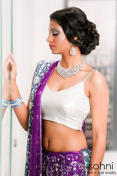 Kiran Reception hair Indian Bridal Hair & Makeup by sohni skin & hair studio