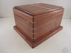 Urn, Sipo Mahogany with Maple Cross Inlay - by Blackie_ ...