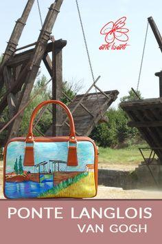 Borsa dipinta a mano - Ponte di Langlois di Van Gogh