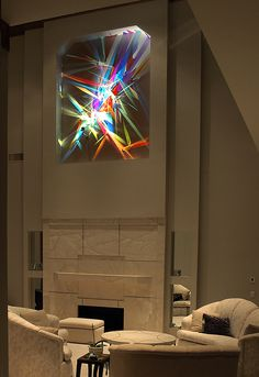 Stephen Knapp creates site-specific light art installations for collectors who are looking for something totally unique and not derivative of anything… Light Art Installation, Art Installations, Artwork Lighting, Bad Room Ideas, Lights Fantastic, Stained Glass Suncatchers, Light Project, Light Painting, Picture Design