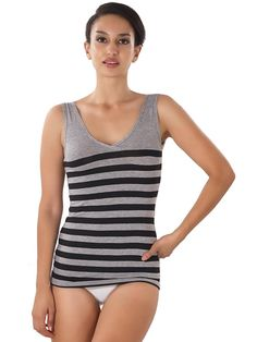 Shyle Black Striped Everyday Camisole