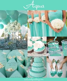 aqua blue wedding theme