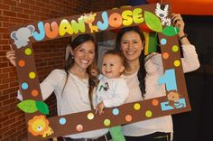 ♠ Fiesta Safari JuanJo Safari Party, Safari Theme Birthday, Jungle Theme Parties, Jungle Party, Animal Birthday, 1st Boy Birthday, First Birthday Parties, First Birthdays, Photos Booth