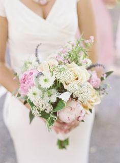 Pink And Yellow Bouquet  floral design | http://www.viburnumdesigns.com/