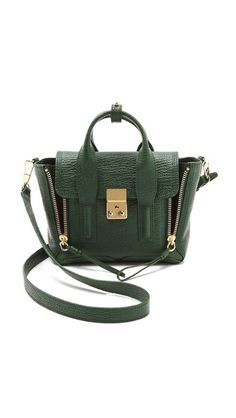 3.1 Phillip Lim Pashli Mini Satchel --> Obsessed. I need this in either the green or navy