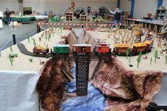 alizobil & JP, bertry playmobil, diorama western, playmobil western,pont playmobil, attaque du train playmobil, train playmobil, train farwest playmobil
