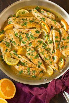 Skillet Citrus Chicken Tenders