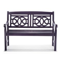 Amalfi Bench, Dusty Indigo - contemporary - outdoor stools and benches - by Grandin Road Outdoor Stools, Outdoor Rugs, Outdoor Living, Outdoor Decor, Outdoor Spaces, Outdoor Ideas, Amalfi, Porch Bench, Porch Chairs