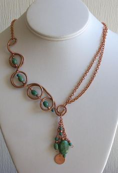 Wire wrapped pendant necklace. Craft ideas from LC.Pandahall.com #pandahall