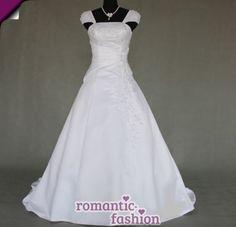 Elegantes-Brautkleid-Hochzeitskleid-Weiss-oder-Creme-Groesse-34-bis-54-NEU-W054