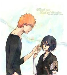 Ichigo and Rukia after the thing with Aizen