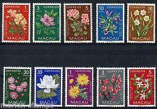 MACAU SCOTT# 372-381 FLOWERS  MINT NO GUM AS SHOWN