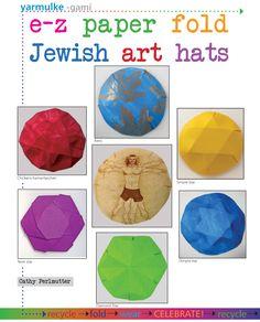Easy_Paper_Fold_Jewish_Art_hats